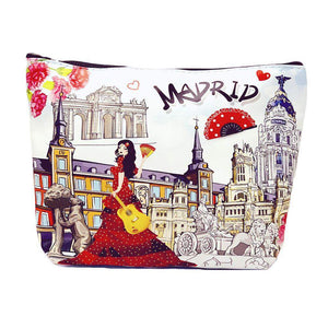 OH Fashion Makeup Bag Discovering Madrid