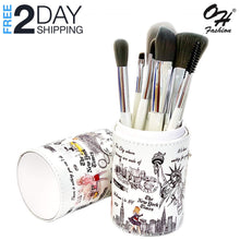 Load image into Gallery viewer, OH Fashion Professional Makeup Brushes Explore the World New York, 9 PCs