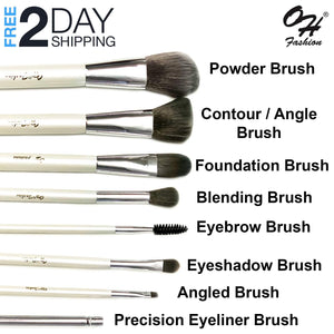OH Fashion Professional Makeup Brushes Explore the World New York, 9 PCs