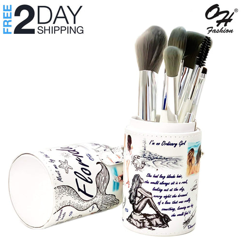 OH Fashion Professional Makeup Brushes Explore the World Florida, 9 PCs