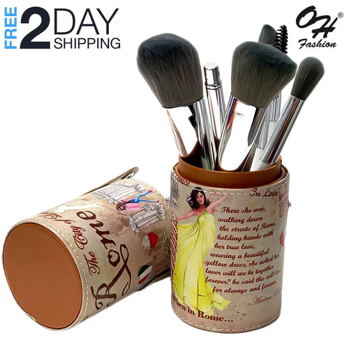OH Fashion Professional Makeup Brushes Explore the World Rome, 9 PCs