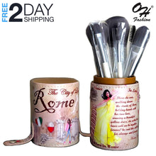 Load image into Gallery viewer, OH Fashion Professional Makeup Brushes Explore the World Rome, 9 PCs