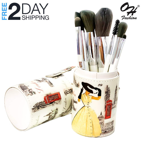 OH Fashion Professional Makeup Brushes Explore the World London ,9 PCs
