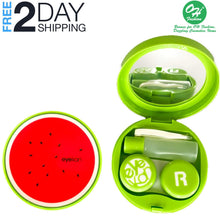 Load image into Gallery viewer, OH Fashion Contact Lens Case Fruits Watermelon with Mirror