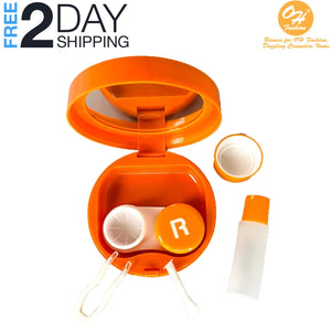 OH Fashion Contact Lens Case Fruits Orange with Mirror