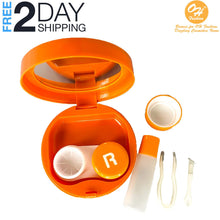 Load image into Gallery viewer, OH Fashion Contact Lens Case Fruits Orange with Mirror