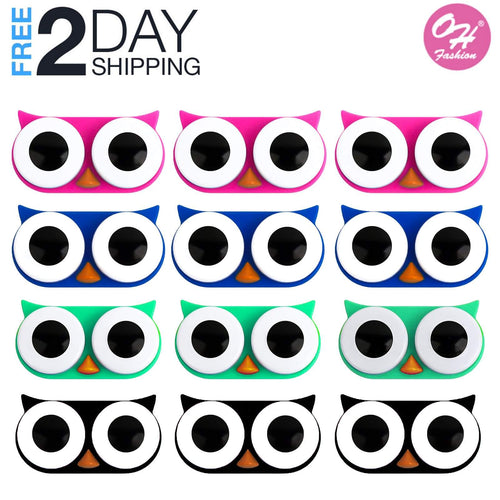OH Fashion 12-month pack contact lens case owl, 12 PCs
