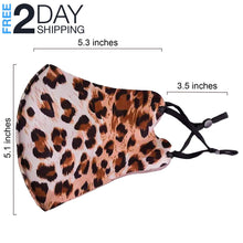 Load image into Gallery viewer, OH Fashion Face Mask Animal Pattern Cheetah, 5 Styles