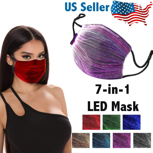 OH Fashion LED Light Up Face Mask - 7 Colors in 1