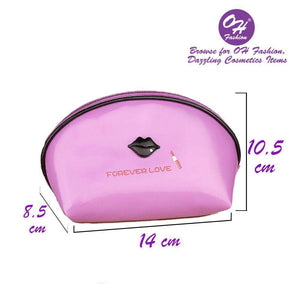 OH Fashion Makeup Bag Lipstick Love Famous in Purple (Small)