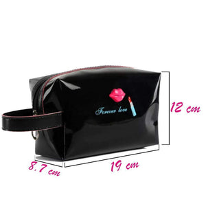 OH Fashion Cosmetic Bag Lipstick Love Captivating in Black (Medium) - Superpharma Corporation - ohfashion