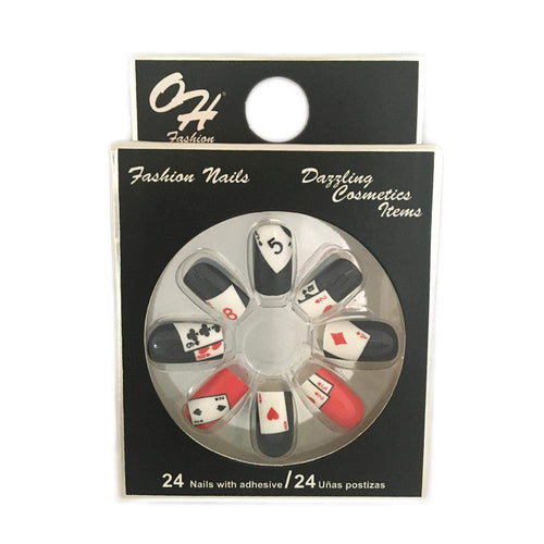 OH Fashion Stick on Nails Casino Night - Superpharma Corporation - ohfashion