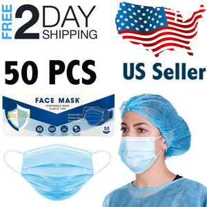 Superpharma Disposable Face Mask 3-Ply Earloop Pack, 50 PCs