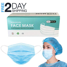 Load image into Gallery viewer, Face Mask Pack 50 PCS Disposable Earloop Masks