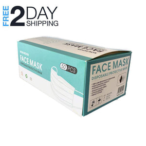 Face Mask Pack 50 PCS Disposable Earloop Masks