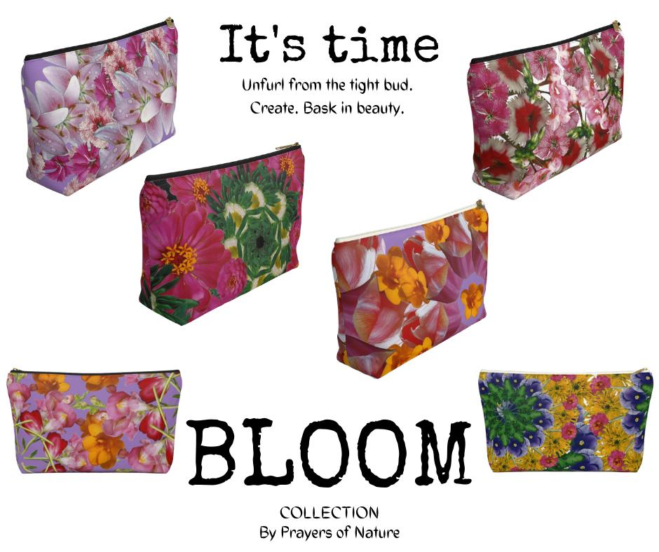 Bloom Collection Zipper Pouches