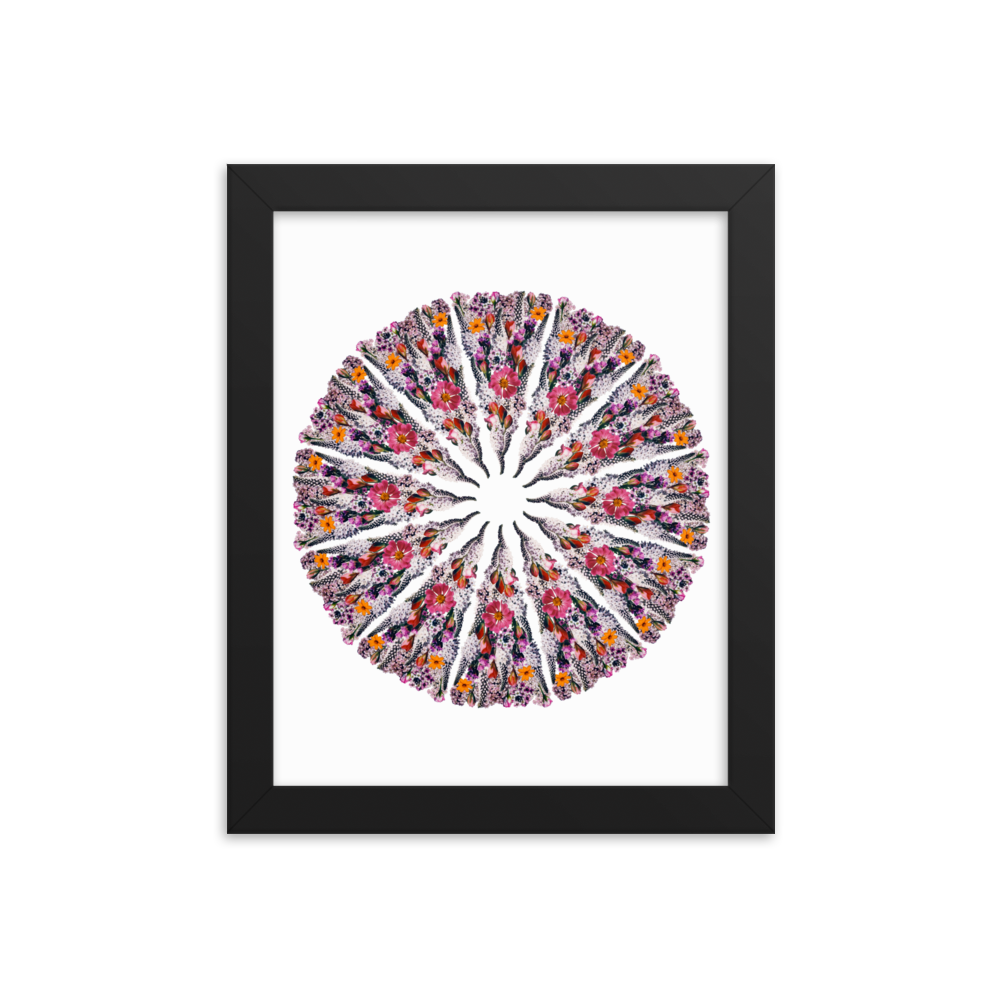 Flower Mandala Framed Prints