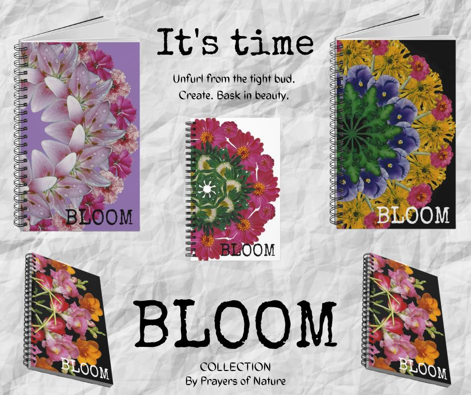 Bloom Collection Notebooks With Text & Mandalas