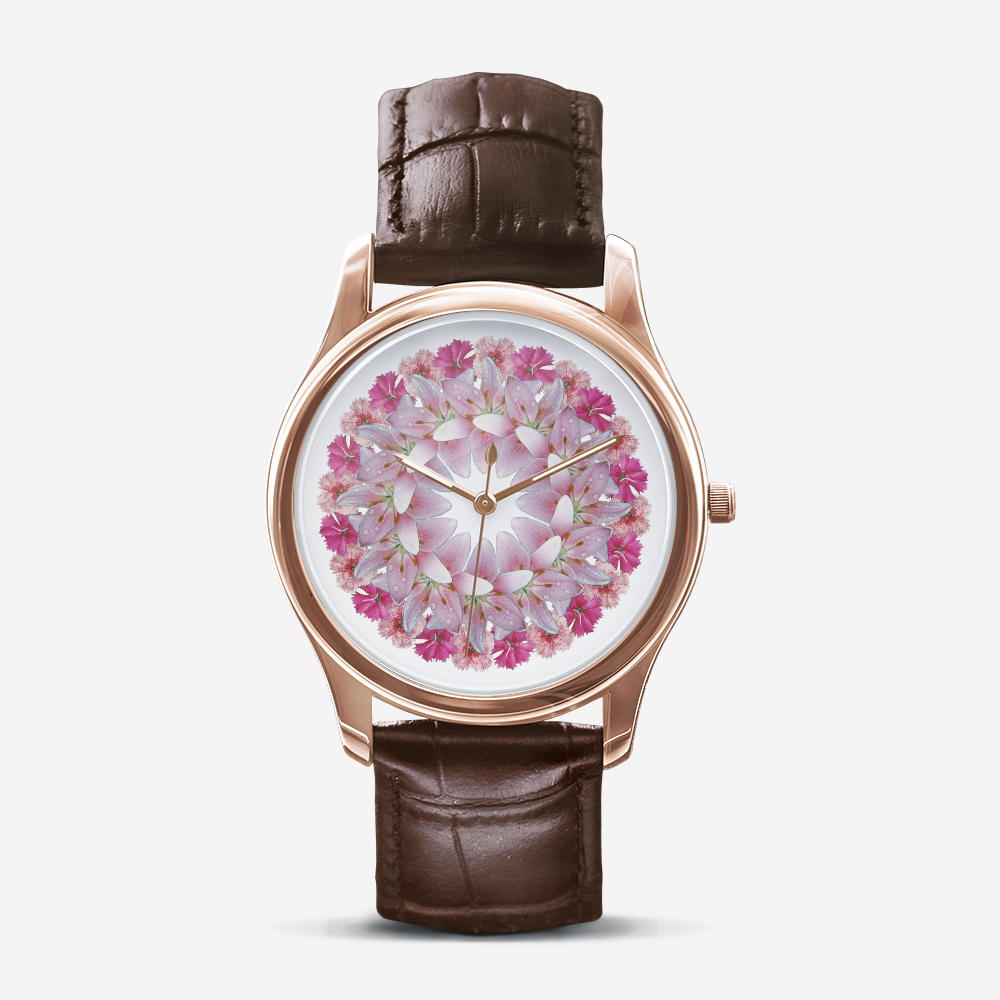Dianthus & Lily Gold Quartz Watch