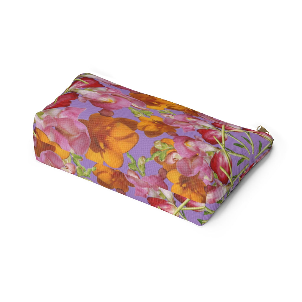 Snapdragon & Tulip Purple Pouch