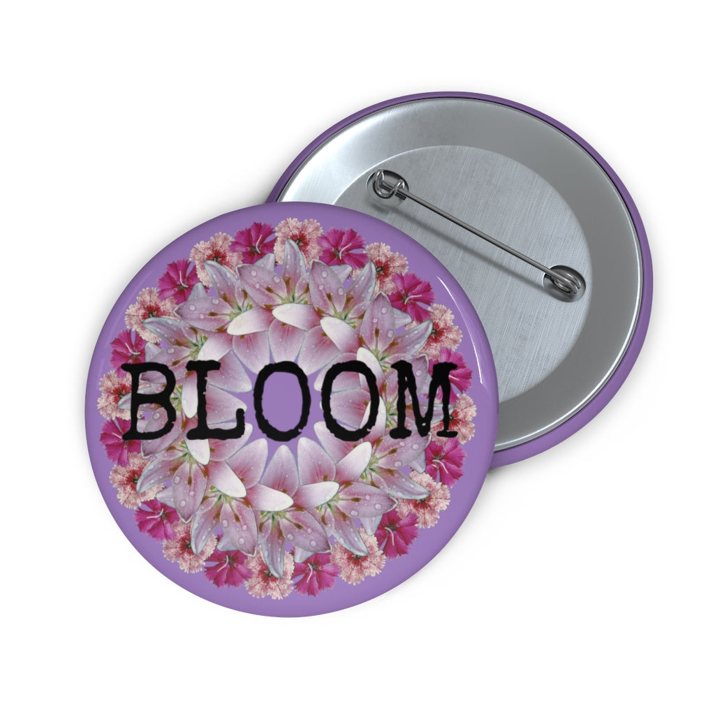 Dianthus & Lily BLOOM Purple Pin
