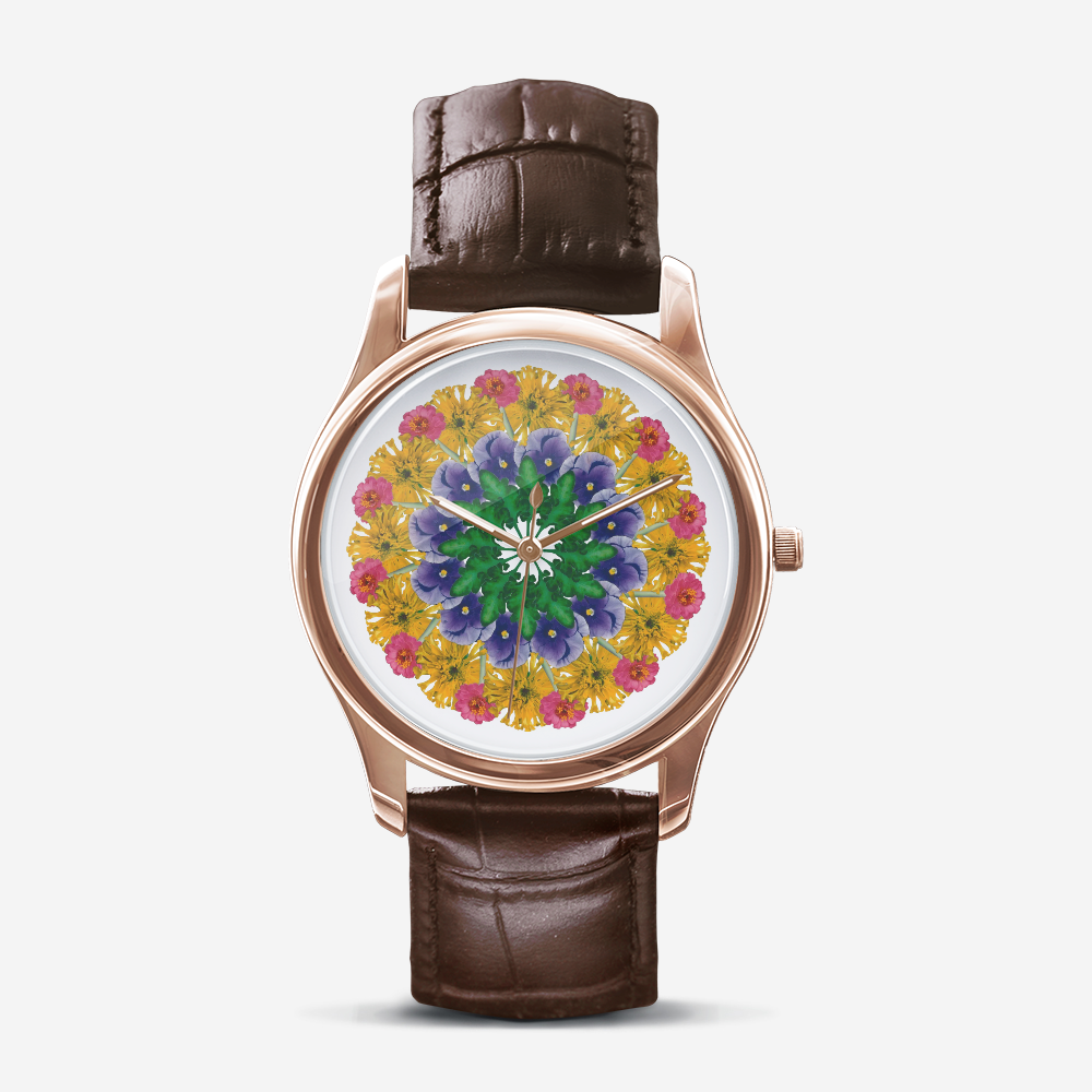 Marigold & Pansy Gold Quartz Watch