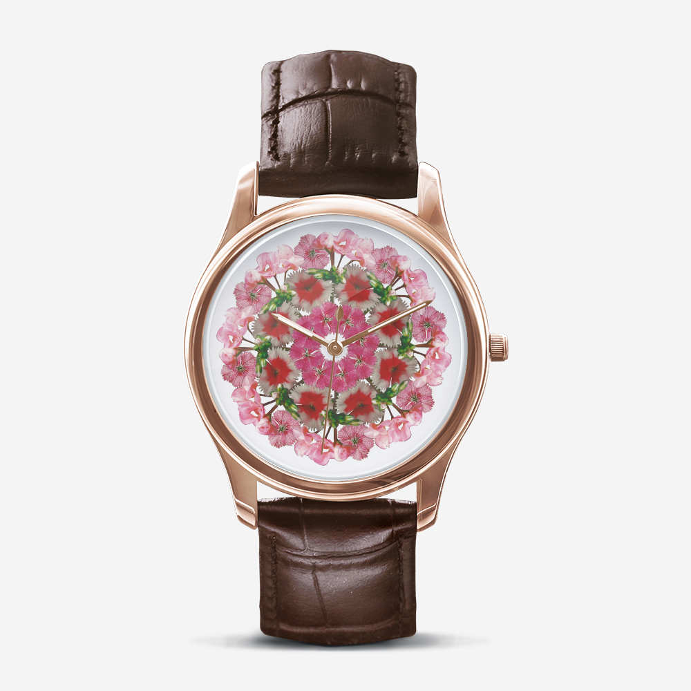 Dianthus & Geranium Gold Quartz Watch