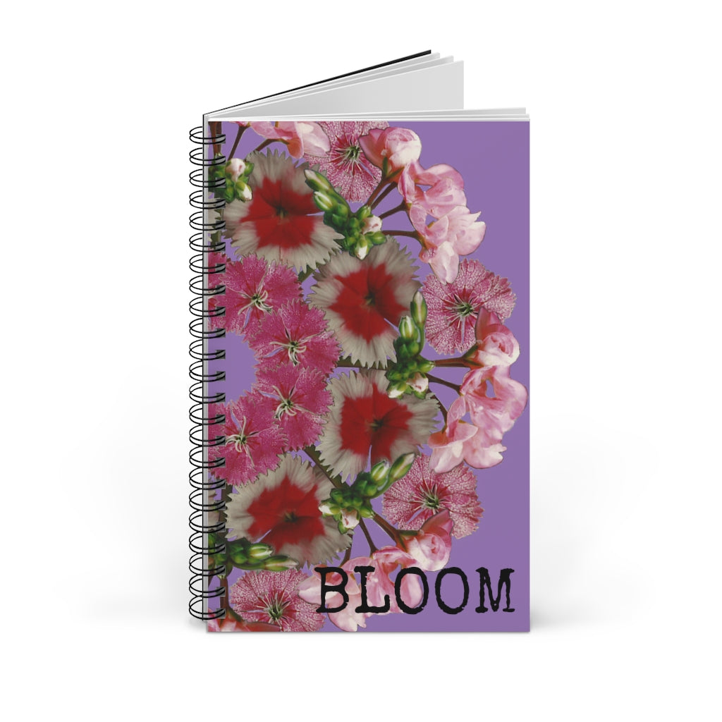 Dianthus & Geranium BLOOM Purple Spiral Journal