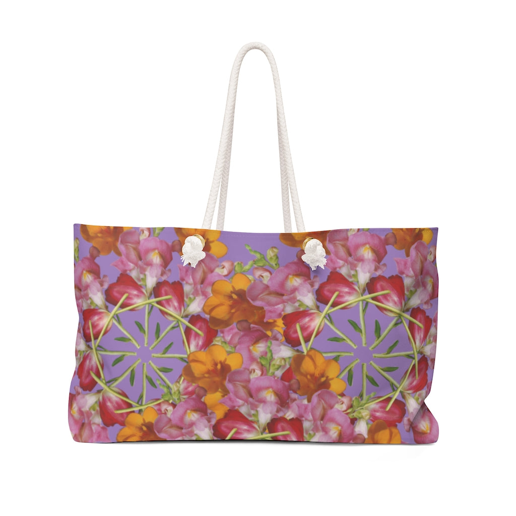 Snapdragon & Tulip Purple Weekender Bag