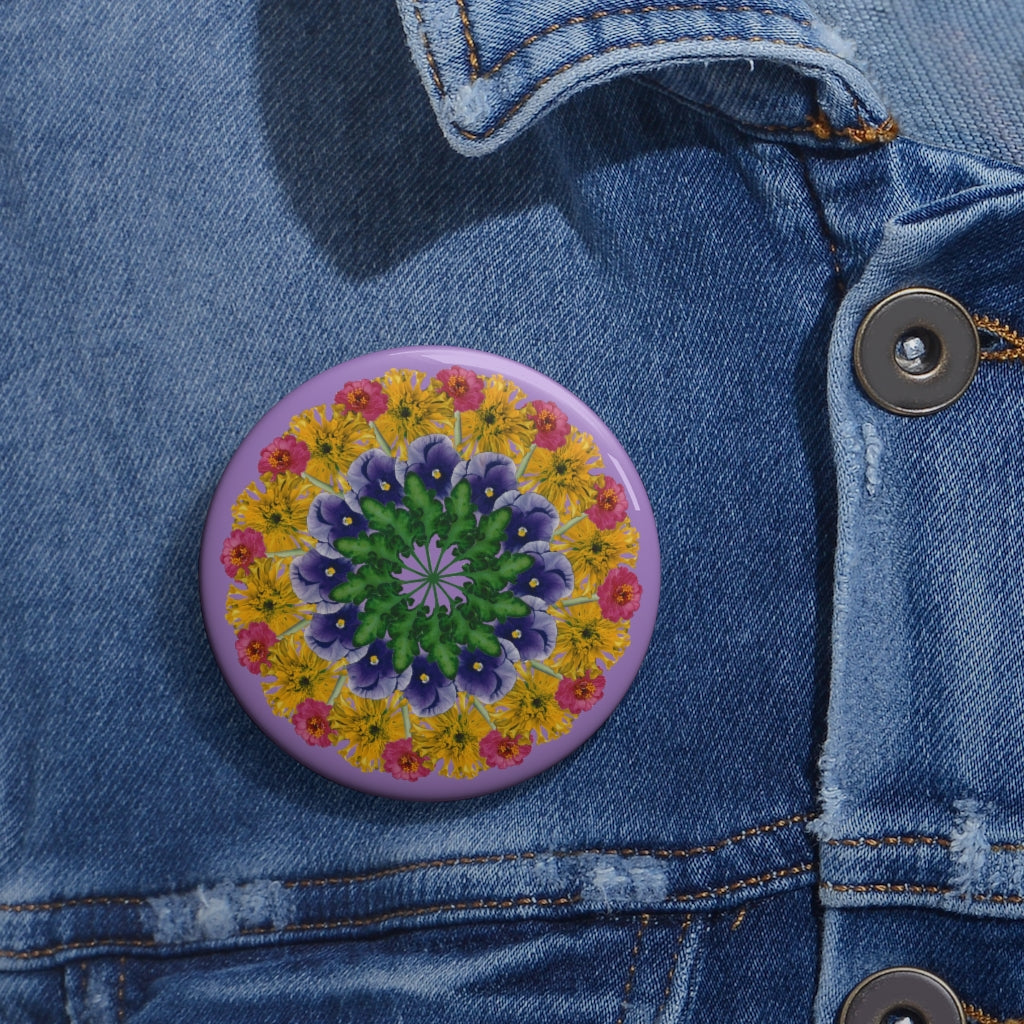 Marigold & Pansy Purple Pin