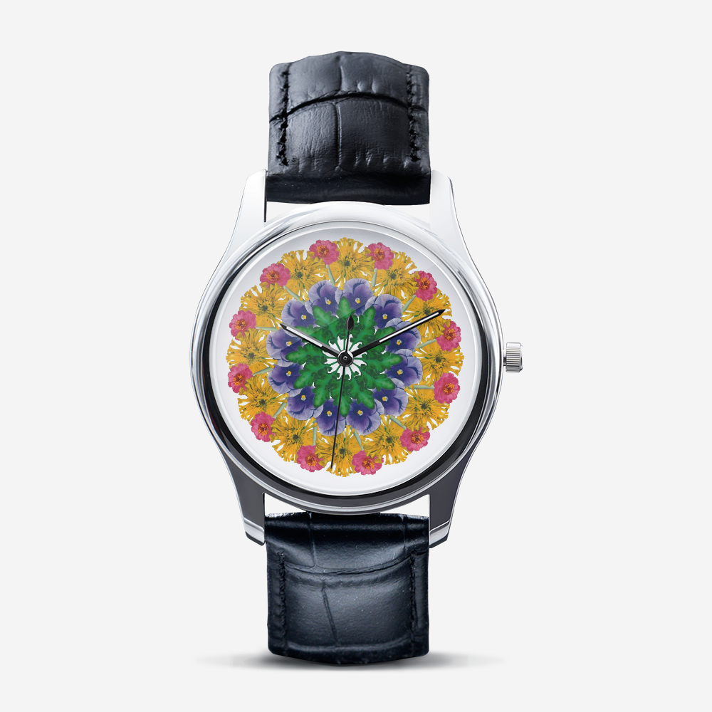 Marigold & Pansy Silver Quartz Watch