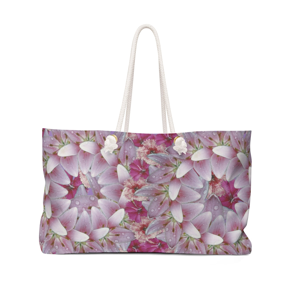 Dianthus & Lily Purple Weekender bag