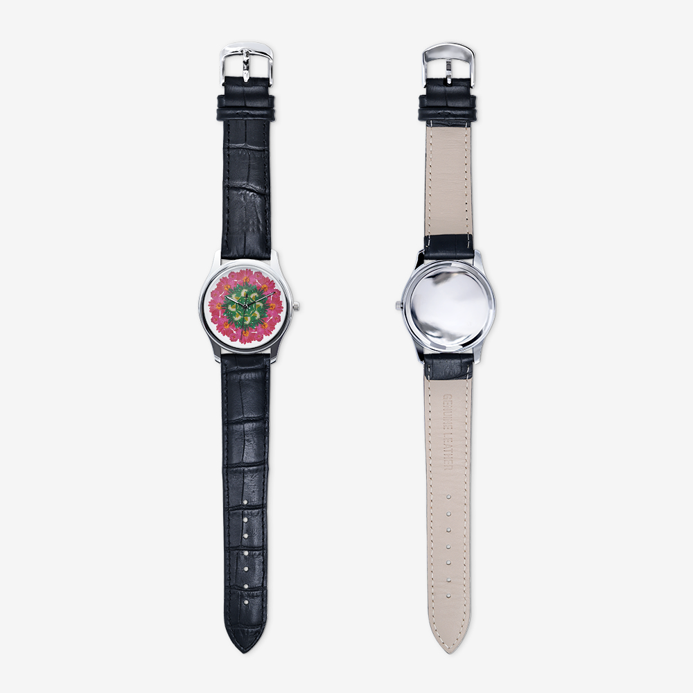 Zinnia & Mum Silver Quartz Watch