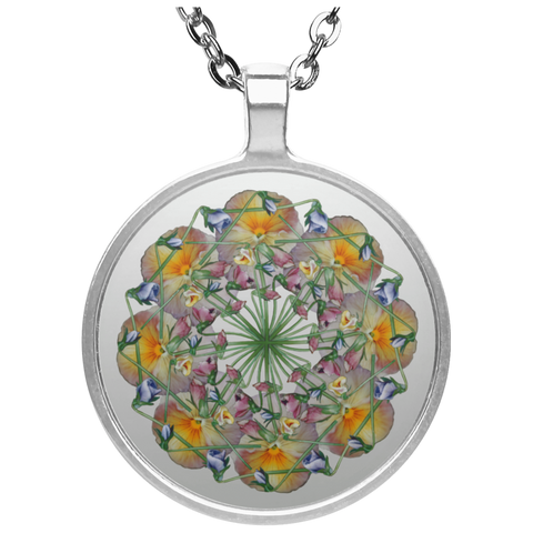 Flower Mandala I Am Reborn Necklace