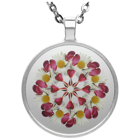 Flower Mandala I Am Not Alone Necklace
