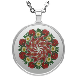 Flower Mandala I Am Not Who I Was Necklace