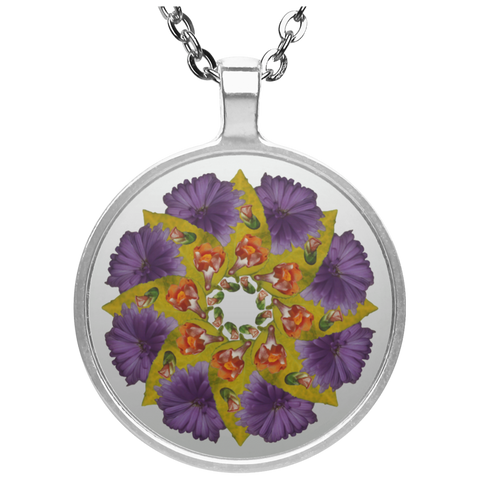 Flower Mandala I Am Strong Necklace