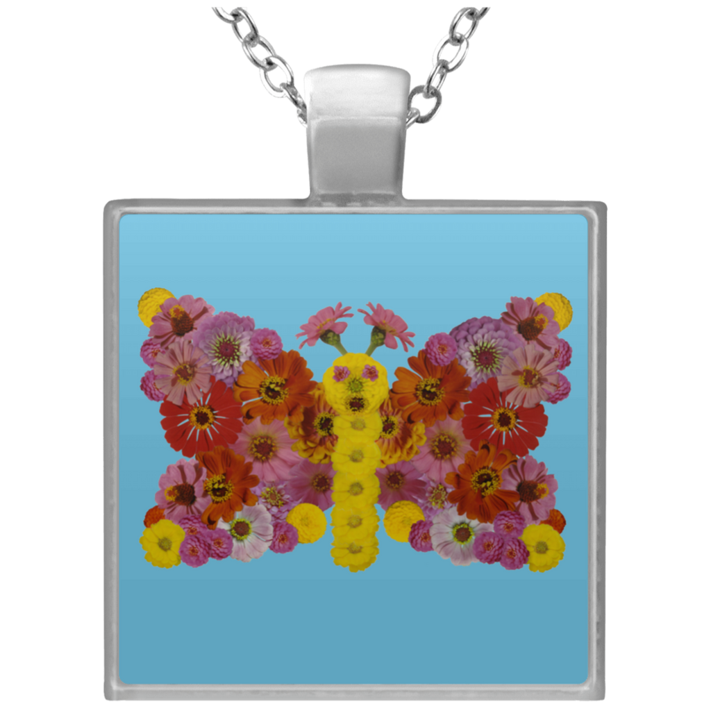 Flower Mandala Prayer Of The Butterfly Necklace