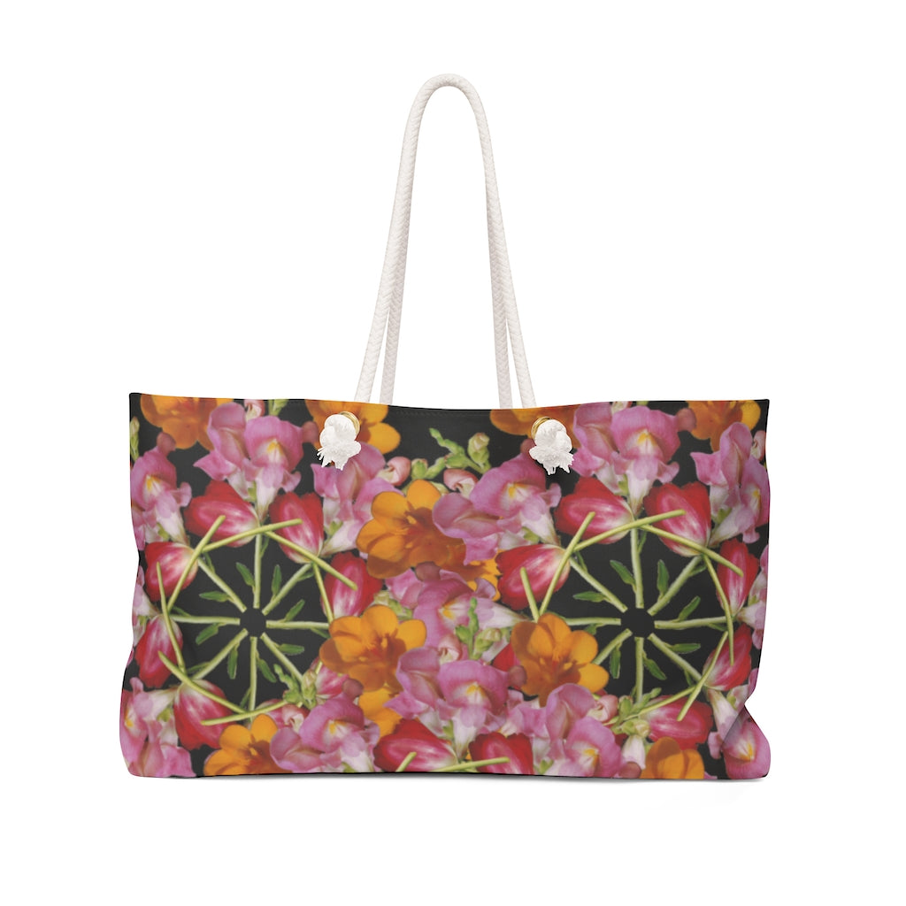 Snapdragon & Tulip Black Weekender Bag