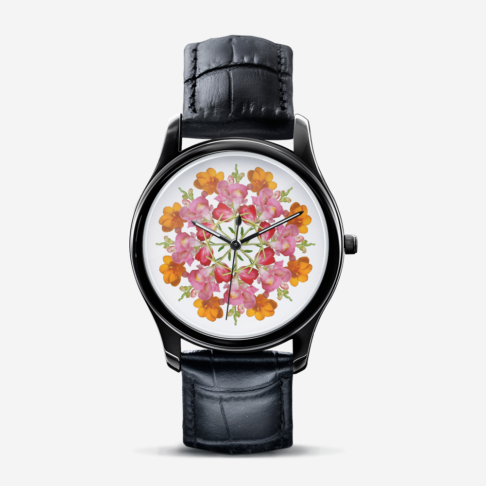Snapdragon & Tulip Black Quartz Watch