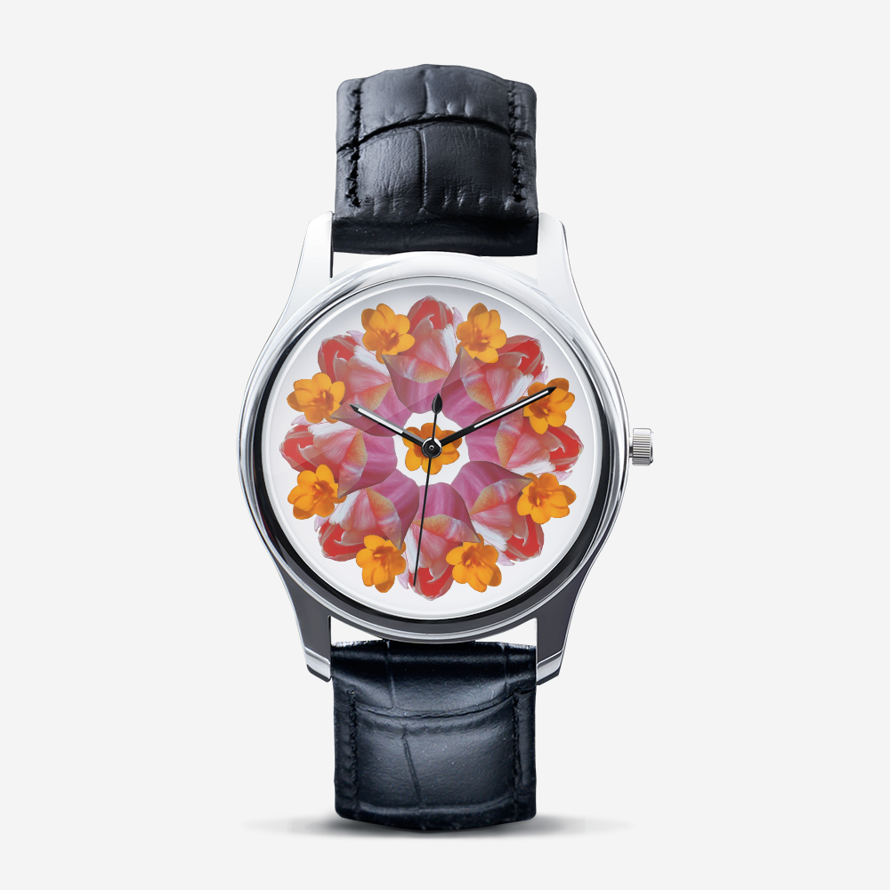 Tulip & Narcissus Silver Quartz Watch
