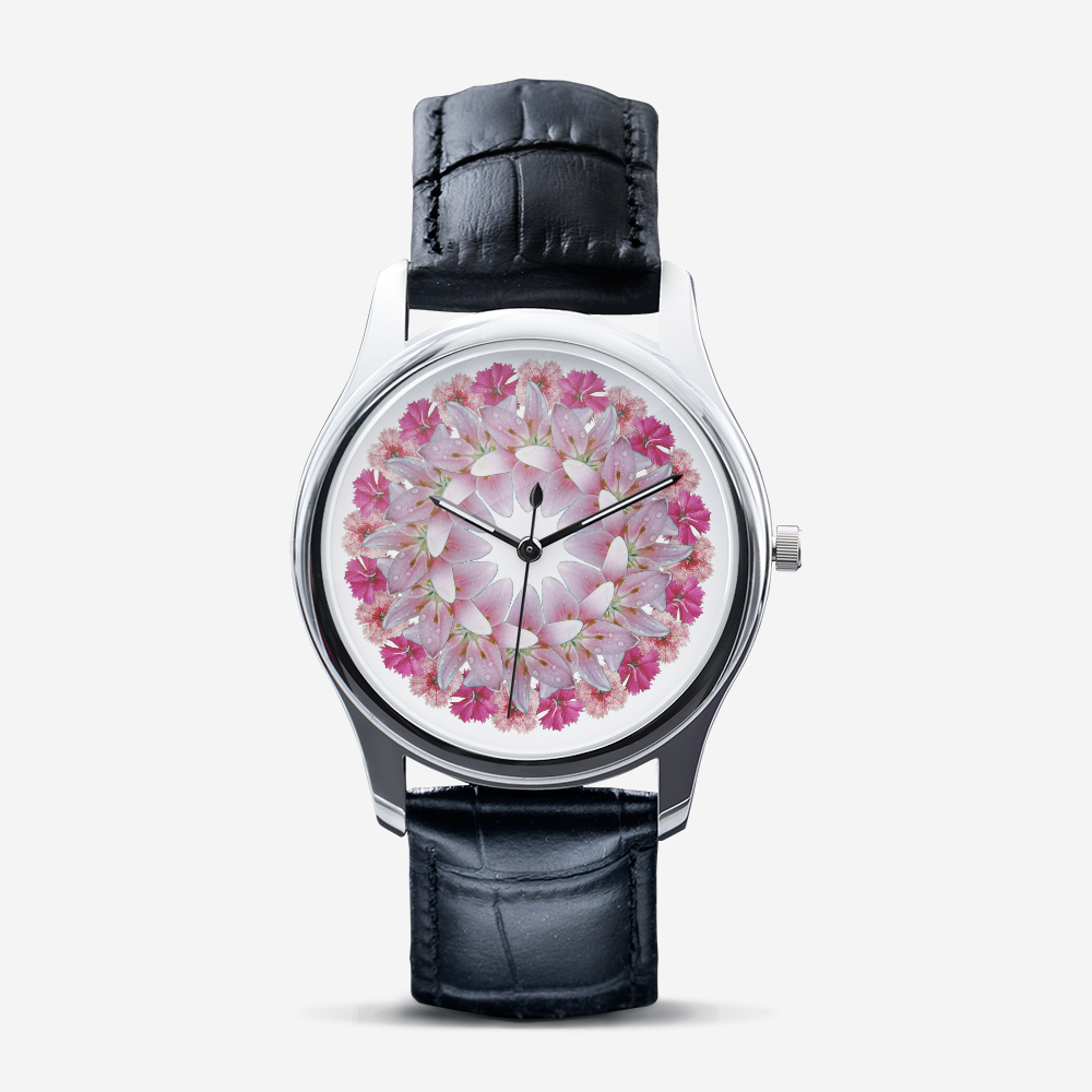 Dianthus & Lily Silver Quartz Watch