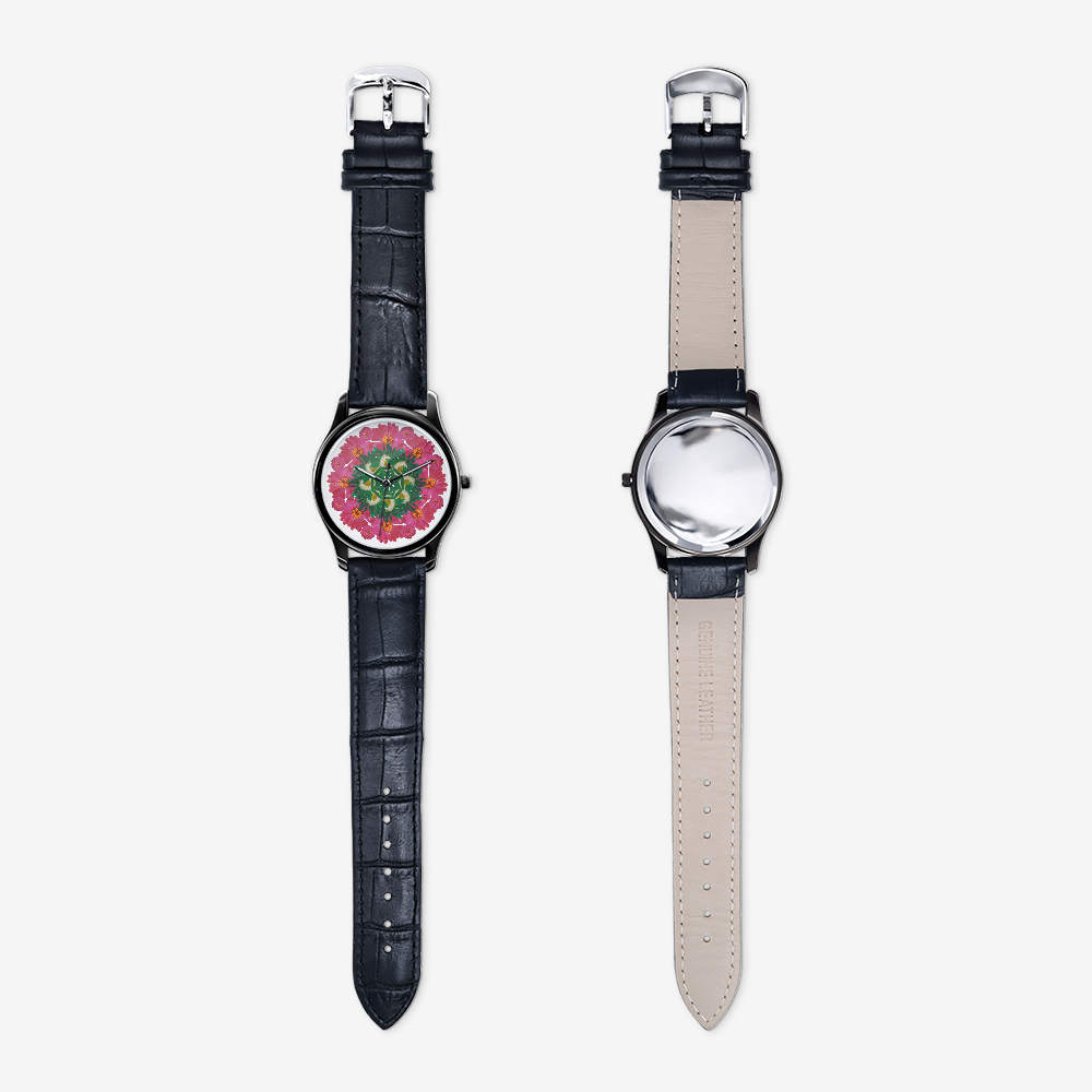 Zinnia & Mum Black Quartz Watch