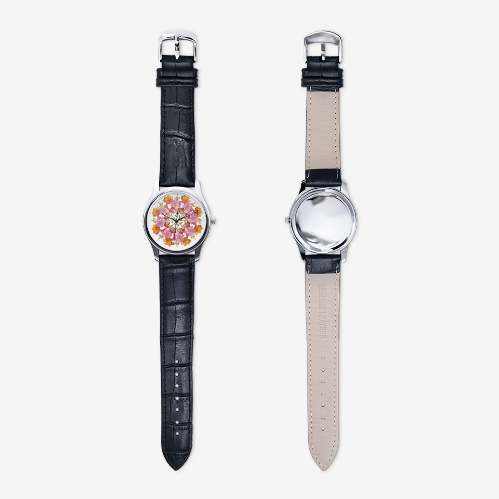 Snapdragon & Tulip Silver Quartz Watch