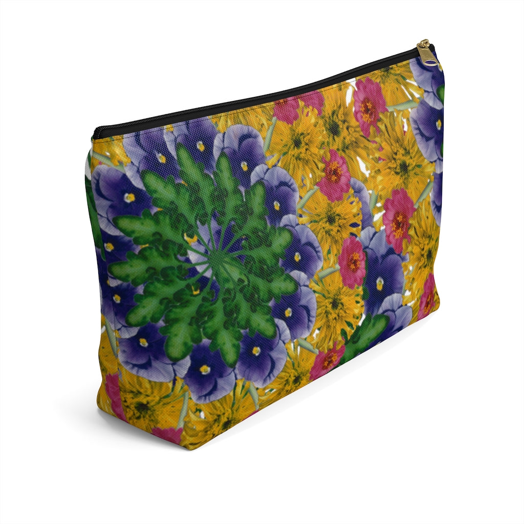 Marigold & Pansy White Pouch