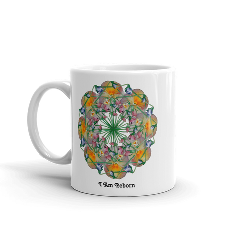 Flower Mandala I Am Reborn Mug