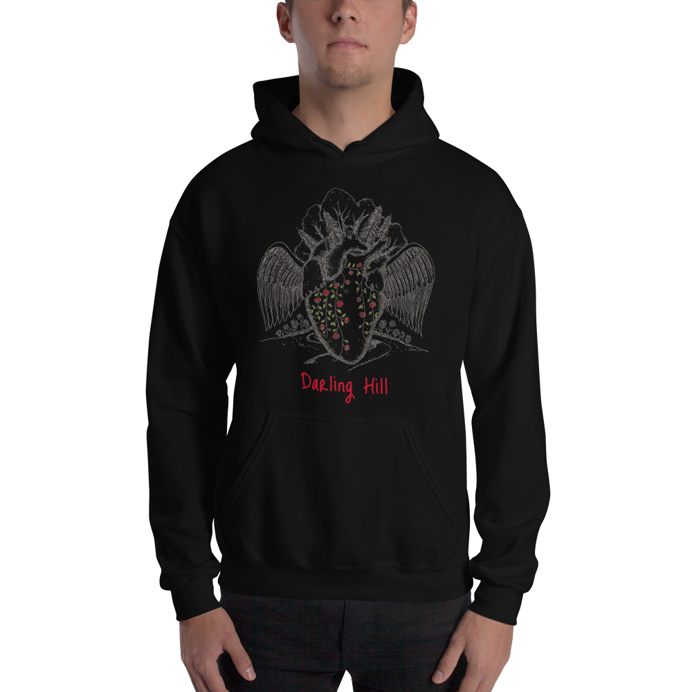 Darling Hill heart with Wings Unisex Hooded Sweatshirt