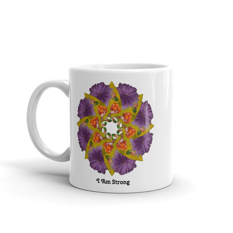 Flower Mandala I am Strong Mug