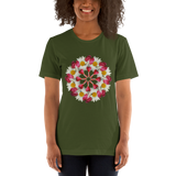 Flower Mandala I Am Not Alone Short-Sleeve Unisex T-Shirt
