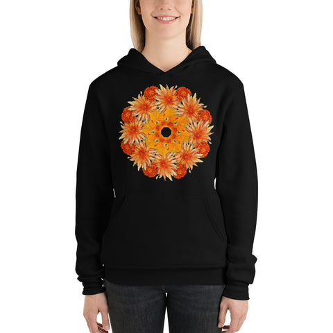Flower Mandala I Am Fearless Fleece Lined Hoodie